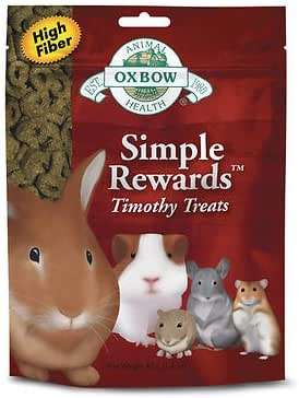 Oxbow Simple Rewards Timothy Healthy and Delicious Treats Sizes: 40 g/1.4 oz.