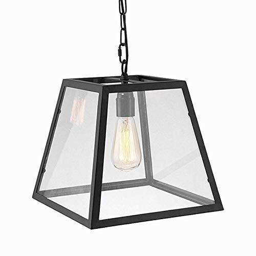 Ladiqi Pendant Light Glass Cage Lampshade Hanging