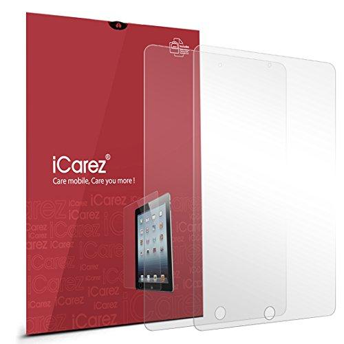 iCarez HD Clear Premium Screen Protector for Apple iPad Mini, iPad Mini 2, iPad Mini 3 - Retail Packaging - (Pack of 2)