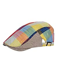 Vikenner Men's Plaid Casquette Plate Beret Cap Driving Duckbill Sports Hat