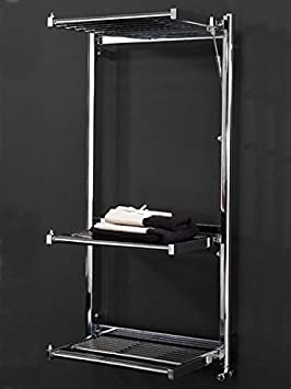 Koh-I-Noor 44031KK - Radiador de agua, calienta toallas y secador de ropa con 3 estantes de difusores extensibles MULTI Hidráulico. Acabado cromado.