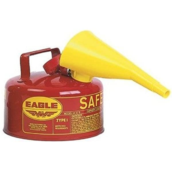 """Eagle Yellow Poly Gas Can Safety Funnel Spout For Metal Type Safety Cans 10/"""" NEW"""