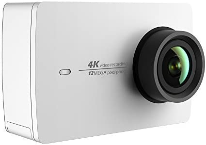 YI 4K Action and Sports Camera, 4K 30fps Video 12MP Raw Image with EIS, Live Stream, Voice Control White