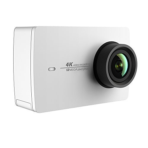 YI 4K Action and Sports Camera, 4K/30fps Video 12MP Raw Image with EIS, Live Stream, Voice Control - White