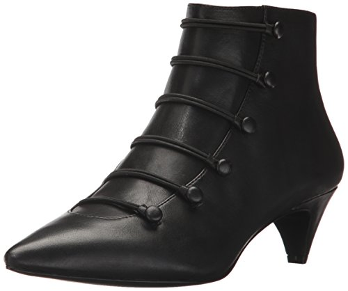 Nine West Women's Zadan Leather Ankle Boot, Black, 7.5 M US