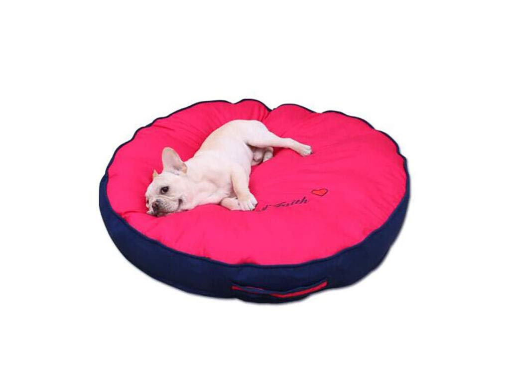 pink red L pink red L TLTLCWW Dog Bed, Removable And Washable Four Seasons Universal Pet Bed Small Medium And Large Cat Dog Pet Nest, Multi-color Optional (color   pink red, Size   L)