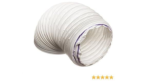 1 metre PVC (plástico) Flexible blanco para conductos de, condensador de ventilación para campana extractora de aire de ventilación manguera 152 mm de diámetro 150 mm para conductos de: Amazon.es: Hogar