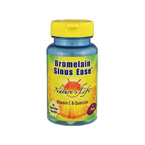 Nature's Life Bromelain Sinus Ease 1200mg | with Vitamin C & Quercetin | Sinus Health, Immune Function & Seasonal Support | 30 Vegetarian Capsules