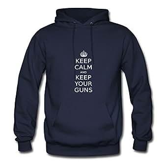 Keep Calm And Keep Your Guns Navy Women Speacial Sweatshirts Shirt Custom-made X-large
