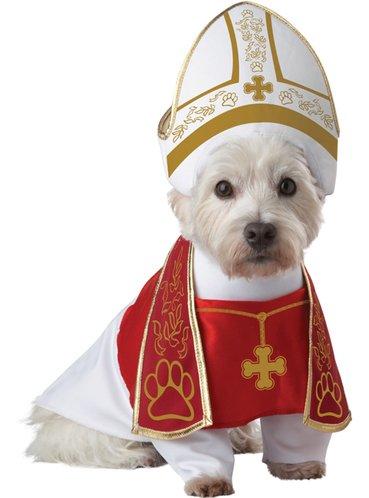 Costume da Papa per cane travestimento di Natale per cane tunica e cappello  per il presepe