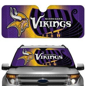 Minnesota Vikings Official NFL 23 inch x 57 inch Car Sun Shade by Team Promark (Sunshade Car Team)