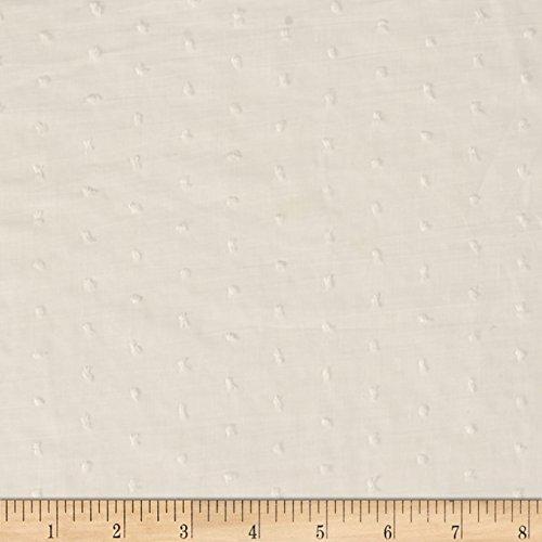 (Fabric Lawn Swiss Dots Ivory Yard)