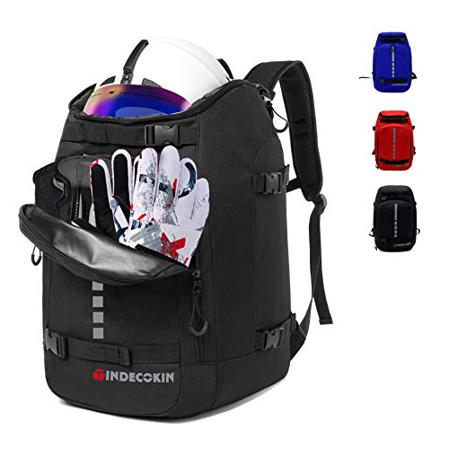 Qiaoqii Ski Boot Bag, Ski and Ski Boot Travel Backpack, 50L Large Capacity can Accommodate Ski Helmet, Goggles, Gloves, Snowboard and Other Accessories