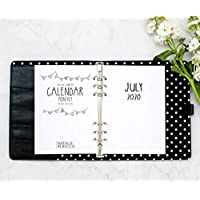 "July 2020 - June 2021 Academic Monthly Calendar for A5 Planners, fits Filofax, Kikki K, Carpe Diem Planners, 6 Ring binder, 5.8"" x 8.3"" Creative (Planner Not Included)"