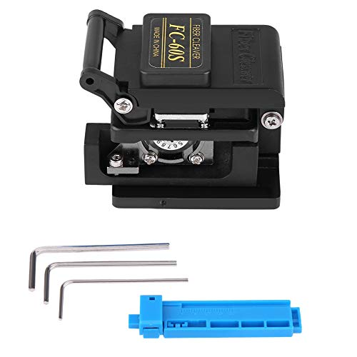 FC-60S High Precision Optic Fiber Cleaver Optical Cutter Cable Cutting Knife Tool Kit Made Off Metal Long Service Life Suitable for Single Core (φ0.25 and 0.9mm) and Leather Fiber