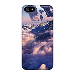 JamesDLaughlin Case Cover Protector Specially Made For Iphone 5/5s Floating Mountains
