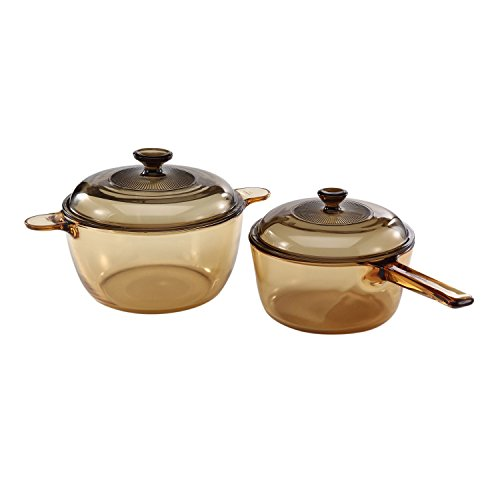 VISIONS 4-pc Cookware Set (Glass Frying Pan)