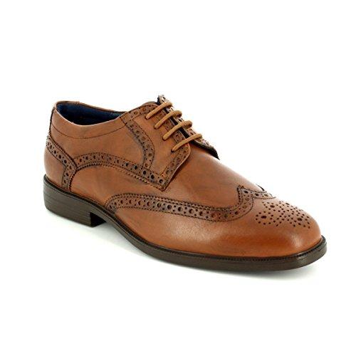 à homme lacets de Padders Chaussures peau rouge pour ville xqwUqOH6