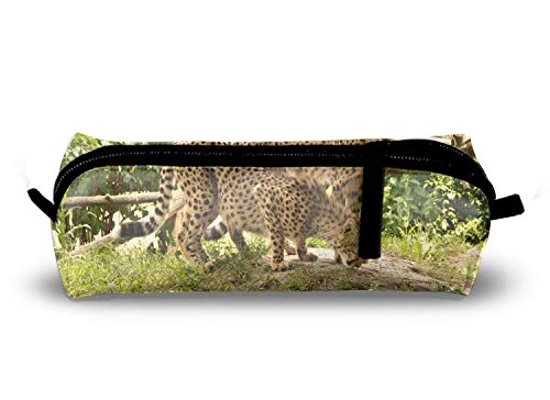 (Leopards Portable Stylish Pen Bag, Stationery Pouch, Multi-Colored Pencil Bag, Cosmetic Pouch Bag, Compact Zipper Bag)