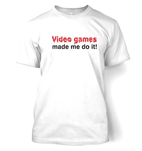 Video Games Made Me Do It T-shirt - White XXX-Large(54/56