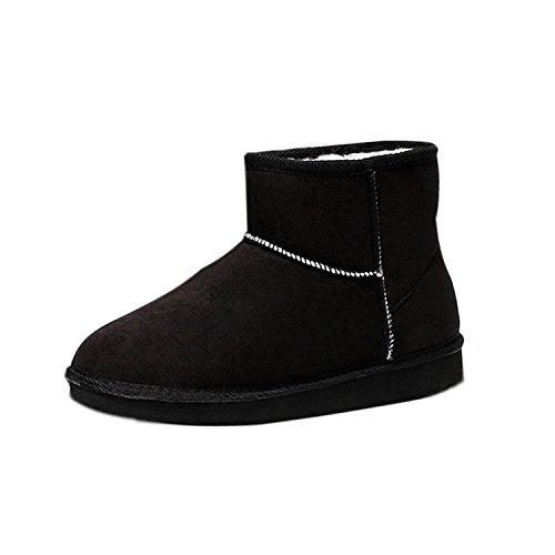 Botas Zapatos Botines Negro Invierno Casual Botines Zapatos Cómodo Calentar De Mujer 82bba2