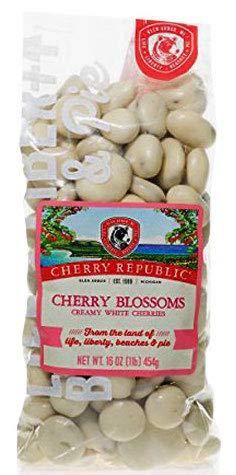 Cherry Republic Chocolate Cherries - Authentic & Fresh White Chocolate Covered Cherries Straight from Michigan - Cherry Blossoms - White Chocolate, 16 Ounces ()