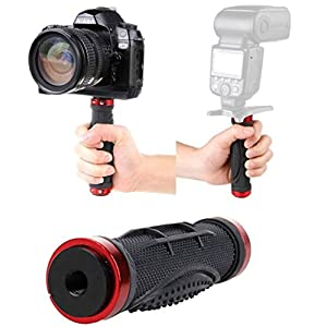 "Dhana Style Mini 1/4 Inch Screw Video and Photo Stabilization Device Mini Monopod / Anti-Skid Rubber Handheld Holder Grip With 3/8"" Tripod Hole Type:RHG"