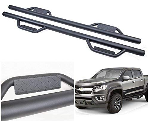 Ajaa 2015-2019 Chevy Colorado/GMC Canyon Crew Cab Black Hoop Running Boards (Nerf Bars | Side Steps | Rails)