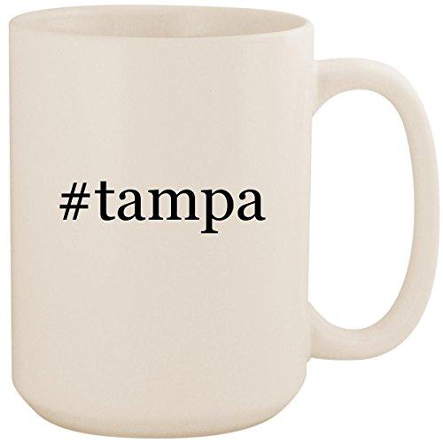 - #tampa - White Hashtag 15oz Ceramic Coffee Mug Cup