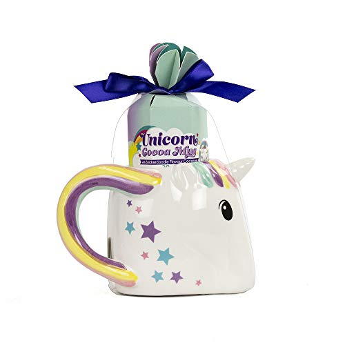 Thoughtfully Gifts, Playful Unicorn Mug and Snickerdoodle Hot Cocoa Gift Set