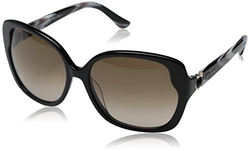 4697c21800 Salvatore Ferragamo Sunglasses SF707S 001 Black 59 16 130 - Buy Online in  Oman.