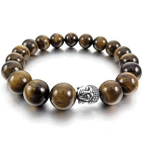 INBLUE Energy Bracelet Silver Buddha