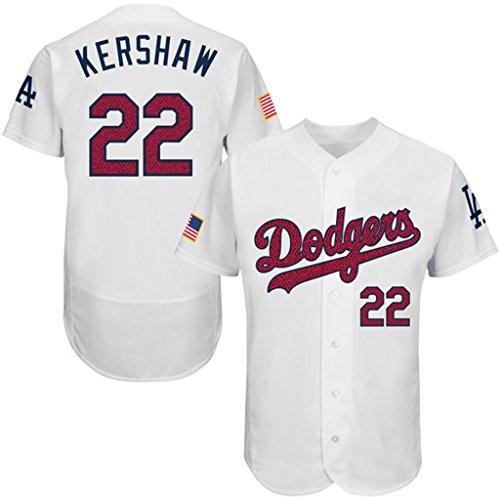 Men's Clayton Kershaw L.A. Dodgers Fashion Stars & Stripes Jersey-White 44