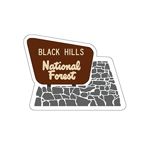 Black Hills National Forest Entrance Sign Vinyl Sticker - SD WY Camping/Hiking Decal for Car, Laptop, and Water Bottle (Best Camping In Black Hills National Forest)