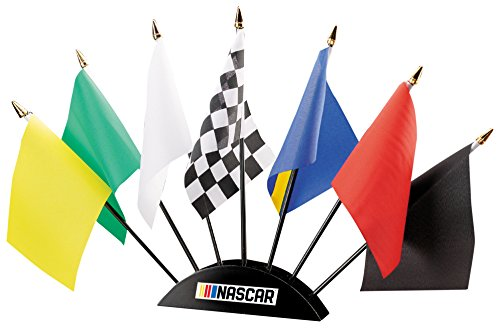 Nascar General Unisex Nascar 7Piece Flag Desk Setnascar 7Piece Flag Desk Set  Multicolor  One Size
