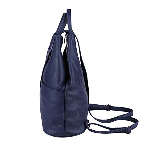 OBC Only-Beautiful-Couture - Bolso mochila  para mujer marrón marrón chocolate ca. 25x30x11 cm (BxHxT) Dunkelblau/Navy