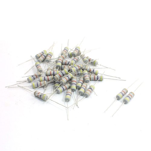 Uxcell a13121000ux0544 40 Piece Axial Leads DIP Mount Carbon Film Resistor, 2W 47k Ohm