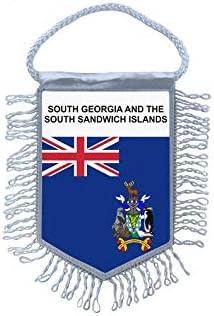 Akachafactory Fanion Mini Drapeau Pays Voiture Decoration Georgie du sud iles Sandwich