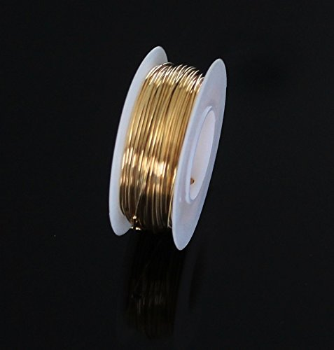 Red Brass Round Wire (Dead Soft) 1/4 LB. Choose Gauge (24Ga Spool - 200 -