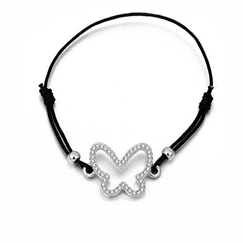 Ablaze Jin women jewelry creative ethnic style weaving bracelet love heart hand rope jewelry,SL05717 white k ()