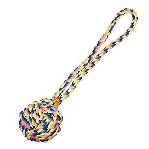 Rope Monkey Fist - Zanies Poly/Cotton 17-Inch Monkeys Fist Knot Rope Dog Toy