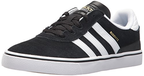 adidas Originals Men's Shoes | Busenitz Vulc Fashion Sneakers White/Black, (10.5 M (Original Mens Shoes)