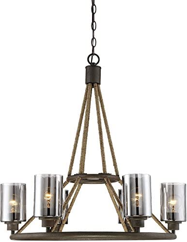 Savoy House 1-5150-6-32 Maverick 6 Light Chandelier in Artisan Rust