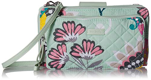 - Vera Bradley Iconic Deluxe All Together Crossbody, Signature Cotton, Mint Flowers