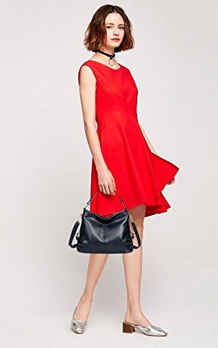 Longue Coolives Main Sacs Bleu Femme avec Couture Rouge à Bandoulière Foncé qTFTwXPr
