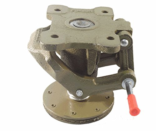 6'' Cast Iron Floor Lock, Foot Operated, 4-1/2'' x 6'' Top Plate by Access Casters Inc.