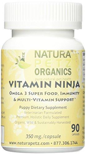 (Natura Petz Organics Vitamin Ninja Puppy - Organic Omega 3 Premium, Super Food, Immunity & Multi-Vitamin Support for)