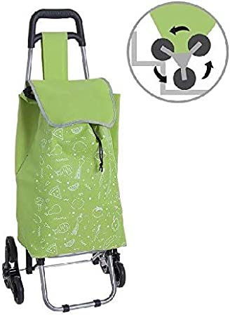 da Adulto Unica Verde Carrello per la Spesa Tempo Libero e Sportwear Unisex Dcasa Verde