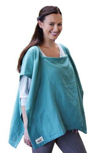 Poncho Baby Nursing Cover, Square Emerald