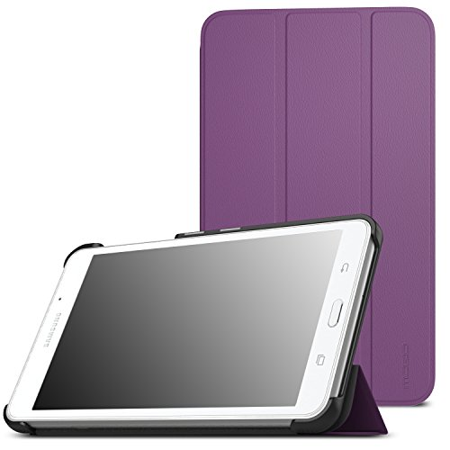 MoKo Samsung Galaxy Tab A 7.0 Case - Ultra Lightweight Slim-Shell Stand Cover Case for Samsung Galaxy Tab A 7.0 Inch Tablet 2016 Release(SM-T280 / SM-T285 Version ONLY), Purple